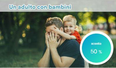 Un adulto con Bambini a Milano Marittima